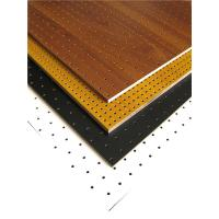 Buy cheap MDF Perforated Wood Acoustic Panels Auditorium Sound Insulation Wooden Board from wholesalers