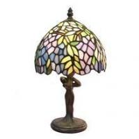 Buy cheap TL080006-Leaf table lampes tiffany lady figurine zinc alloy/polyresin tiffany lamp base from wholesalers