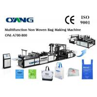 Buy cheap Ultrasonic Sealing PP Non Woven Bags Manufacturing Machine For D Cut / T Shirt Bag from wholesalers