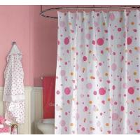 China Polyester print shower curtain on sale