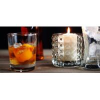 Buy cheap Round Decoration Glass Candlestick Holders / Clear Glass Candle Holders from wholesalers