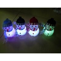 China Rainbow Color Changing LED Flashing Snowman Toy Holiday Party No Peculiar Smell on sale