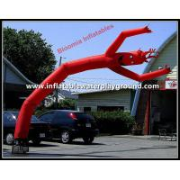 Buy cheap Outdoor Advertising Wavy Inflatable Arm Guy , Red Wavy Tube Man With Smiling Face from wholesalers