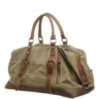 Buy cheap Large Capacity Canvas Luggage Travel Bags with Leather Vintage Sport Handbag from wholesalers
