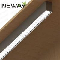 Buy cheap 24W60W UGR Fluorescent Surface Mount Light Fixture Direct Architectural Surface Linear Fluorescent Ceiling Light Fixture from wholesalers