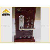 Buy cheap Home Entrance Zinc Alloy Adjustable Silent Door Handle Lock Support Satin / Copper Finishing from wholesalers