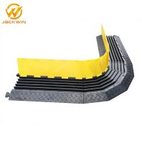 Buy cheap Resist Compression Plastic Cable Protector Ramp / Electric Wire Rubber Floor Cable Cover With Curves from wholesalers