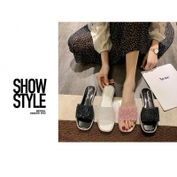 Buy cheap Slippers Shoes Sliver Black Pink Sandals Bling Best Walking Shoes from wholesalers