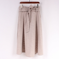 Buy cheap Women 100 Organic Cotton Striped Midi Skirt from wholesalers