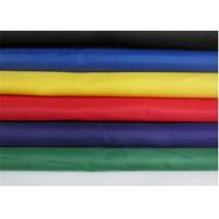 Black / Brown Polyester Fabric , Eco - Friendly Coated Polyester Fabric