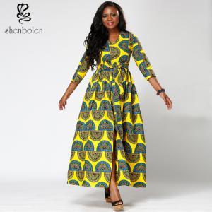 Dashiki style african print dresses contemporary design 100 percent