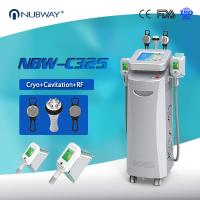 Buy cheap Cryo +RF+ cavitation in one 5 handles Cryo fat freezing machine for Europe from wholesalers