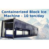 Buy cheap Big Capacity Containerized Block Ice Machine Convenient Air Cooling 10t from wholesalers