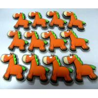 Buy cheap Cartoon Orange Donkey 3d Soft PVC Patches / Labels For Children Clothes Accessories from wholesalers