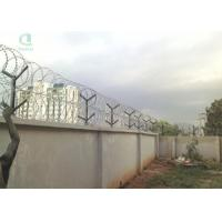 Buy cheap Concertina Razor Barb Wire Tape Fence for Nigeria 10m Galvanized Military Fence from wholesalers