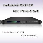 Buy cheap Digital TV DVB-T2 Demodulator  professional IRD Digital TV IPTV Headend 4*DVB-T2 Input 48*SPTS UDP/IP Output RSR1114 from wholesalers