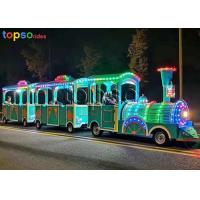 Buy cheap Outdoor Trackless Kiddie Train 2 Carriage Sightseeing Train Attraction 24 Person from wholesalers