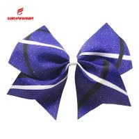 Buy cheap Popular Ponytail Sublimation High School Cheer Bows With Clips Ribbon from wholesalers