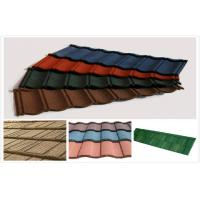 Seven Waves gray / orange Stone Coated Metal House Roof Tiles For Decoration / resort