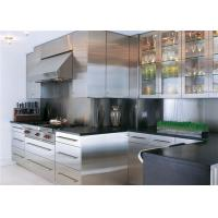 Buy cheap Range Hood Simple Stainless Steel Kitchen Cupboards , Villa Ktichen Cabinets from wholesalers