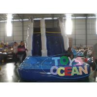 Buy cheap 7x4x5m PVC Blue Inflatable Water Slide With Small Pool For Rental from wholesalers