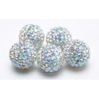 Buy cheap Shamballa Rhinestone Crystal Pave Argil Beads  4 -16mm Pave Crystal Ball Beads RH13328 from wholesalers