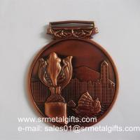 Buy cheap 3D Hong Kong Tournament metal medals and medallions, 3D embossed vintage medals, from wholesalers