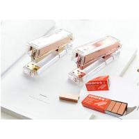 Buy cheap Luxury Rose Gold Gold Manual Stapler Fashion Metal Acrylic Stapler 24/6  Include 1000pcs Staples grapadora papelaria from wholesalers