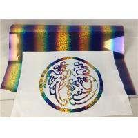 Buy cheap Gold Color Holographic Heat Transfer Vinyl For Textile Iron On HTV Film Roll from wholesalers