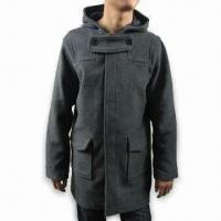 Buy cheap Men's Overcoat, Made of 80% Wool and 20% Nylon, with Polyester Lining from wholesalers