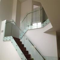 Buy cheap Modern design interior glass railing SUS balustrade fittings with patch fitting from wholesalers