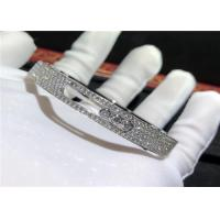 Buy cheap Authentic 18K White Gold Messika Full Diamond Bracelet For Girlfriend / Wife product