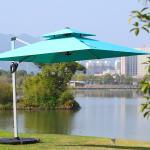 Buy cheap Waterproof patio outdoor sunshade market sunbrella beach umbrella with led light from wholesalers