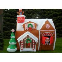 Buy cheap Custom Bounce Inflatable Advertising Products Christmas House For Christmas Festival from wholesalers