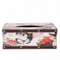 Buy cheap Vintage Wooden Tissue Box Butterfly Tissue Cover Holder Functional Cute Tissue Paper Dispenser Bath Kitchen from wholesalers