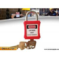 Buy cheap 25mm Hardened Short Steel Shackle Colourful Safety Lockout Padlocks from wholesalers