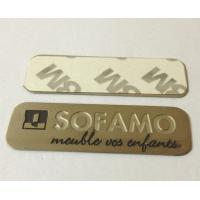 Buy cheap Stainless steel name plate with chemically etched letters, 3M adhesive sticker sign plates from wholesalers