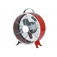 Buy cheap Stand Round Base Small Electric Fan Alarm Clock / Retro Metal Desk Fan from wholesalers