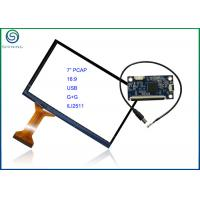 Buy cheap 7 Inch 16:9 Projected Capacitive Touch Screen With USB Interface , COB Type ILI2511 Controller from wholesalers