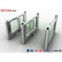 Buy cheap Smart Electronic Flap Waist Height Turnstiles RFID Security Gate For Pedestrian product