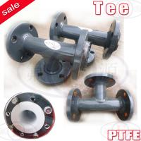 Buy cheap SS316 PTFE lined reducing tee equal tee from wholesalers
