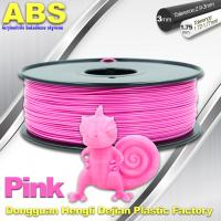 Buy cheap 1767C Pink Plastic Filament For 3D Printing Consumables Filament product