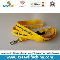 Buy cheap Yellow plain standard lanyard with custom logo and safety metal hook from wholesalers