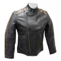 Buy cheap 1.3 mm Thick Cow hide Leather Jacket with YKK Zippers Mesh Lining Proffesional product