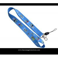 Buy cheap Full colors heat transfer printed lanyard for sale, custom sublimation lanyards from wholesalers