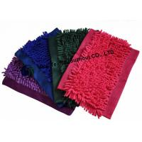 Buy cheap Green Red Chenille Replacement Microfiber Mop Head, Flat Washable Mop Head from wholesalers