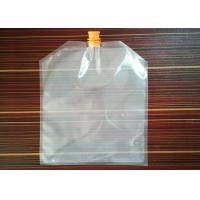 Buy cheap Whosale Clear Plastic Spout Pouch Food Grade Liquid Beverage Bag With Spout Runner Wine Spout Bag from wholesalers