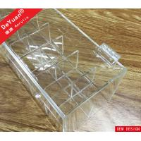 Buy cheap Crystal Knob Clear Acrylic Lipstick Holder Box With Hinged Lid from wholesalers