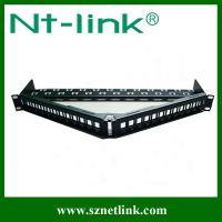 Buy cheap New arrival, angle 24 port modular patch panel from wholesalers