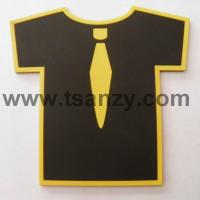 Buy cheap promotional T shirt shape tea cup coaster from wholesalers